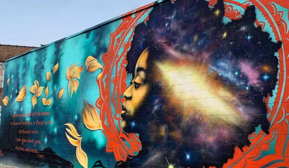 ArtBlock mural in Detroit