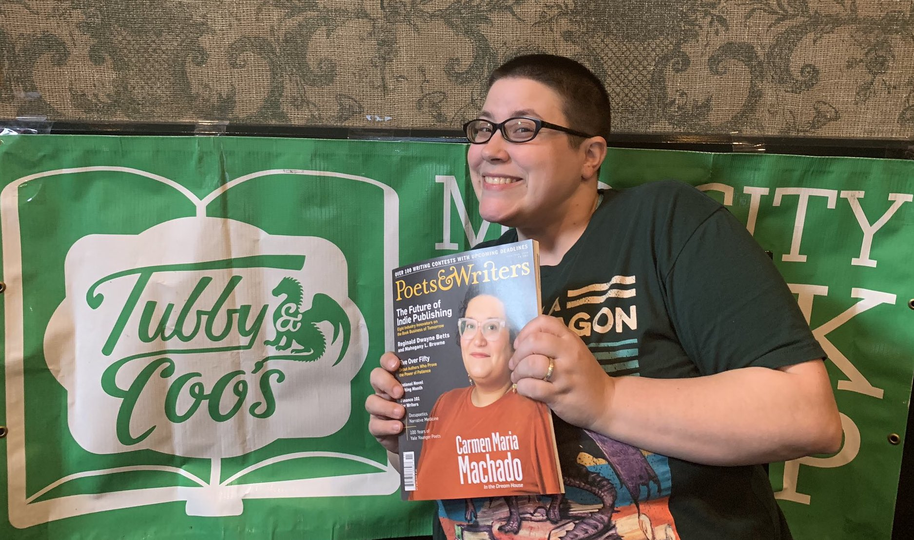 Tubby & Coo's bookstore owner Candice Huber