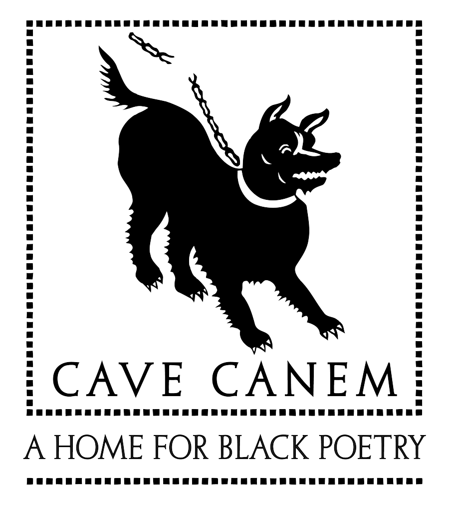 Cave Canem logo of a silhouette of a dog on a leash