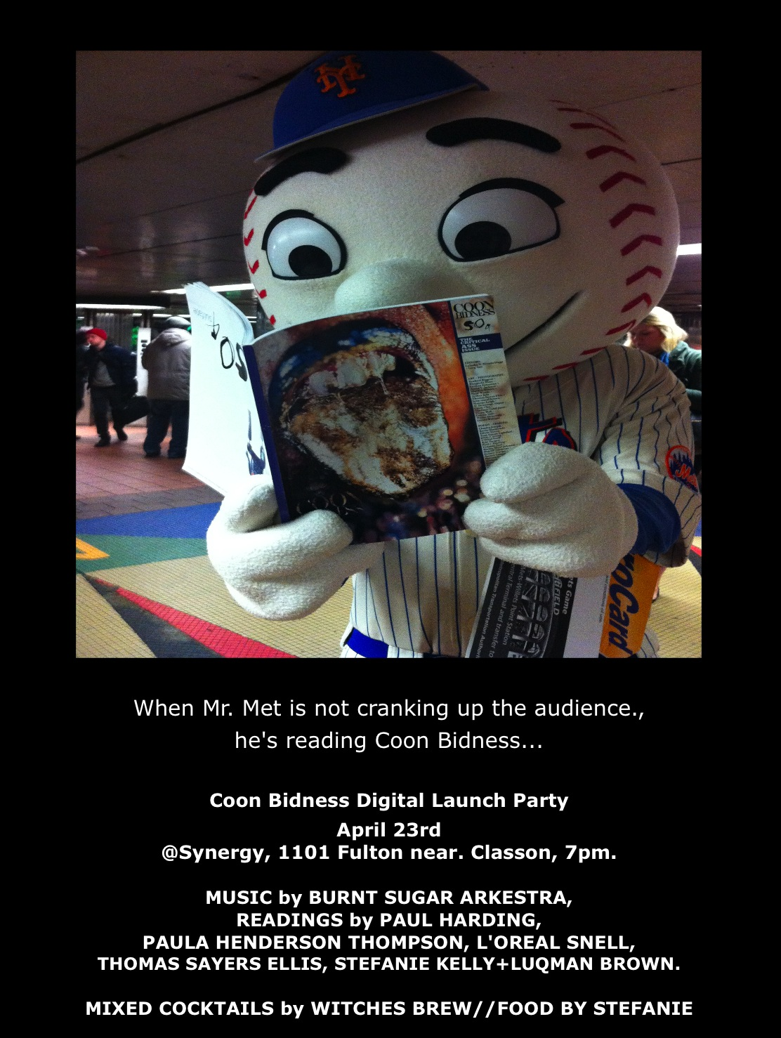 Coon Bidness flyer w/ Mr. Met