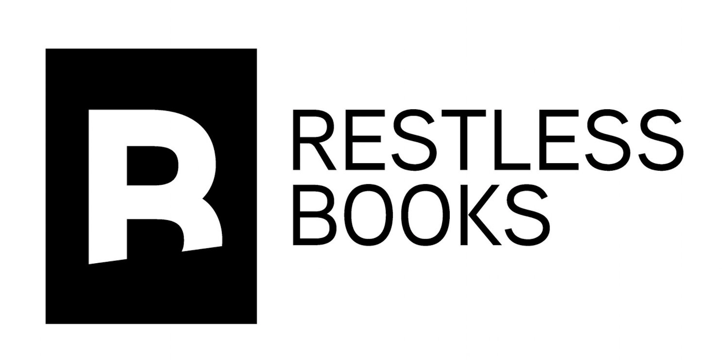 Restless Books logo, featuring the letter R in a black box