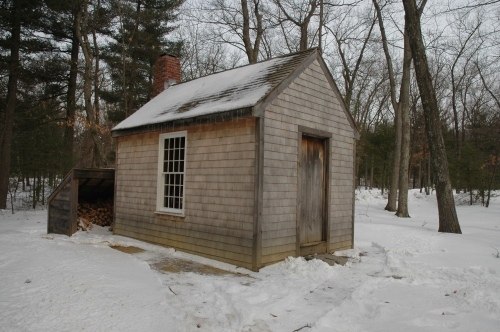 walden pond and thoreau cabin