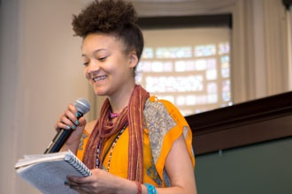 <p>Participant in the 13th Annual Intergenerational Reading: Connecting Generations, featuring teens and seniors participating in P&W funded workshops.</p>