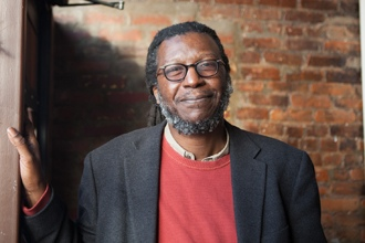 <p>Poet Cornelius Eady at the Lunar Walk Reading Series at Two Moon Art House and Cafe in Brooklyn, New York, on February 10, 2013.</p>