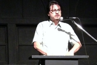 <p>William Archila reads for Red Hen Press at the 2013 Connecting Cultures reading hosted at Beyond Baroque in Los Angeles, California, on June 27, 2013. </p>