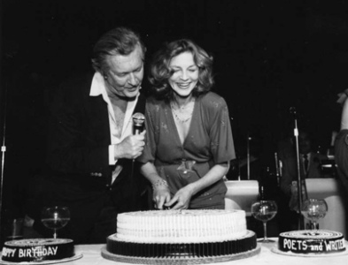 05. William Styron and Lauren Bacall Cut the Cake