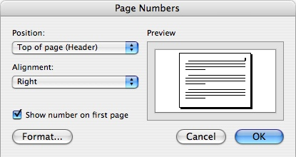 Thesis and dissertation formatting tutorial page numbers