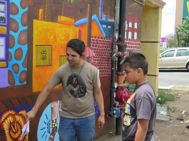 Juan Cardenas and student