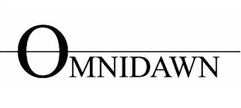 Omnidawn's logo, in which the O of Omnidawn is cut in half by a black line, suggesting a sunset or a sunrise