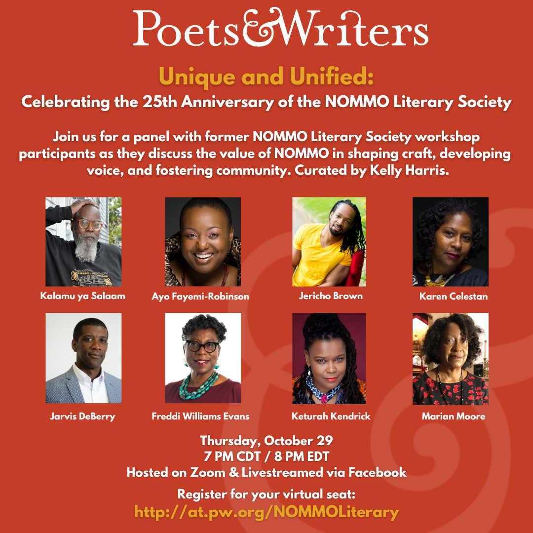 NOMMO Literary Society event flyer