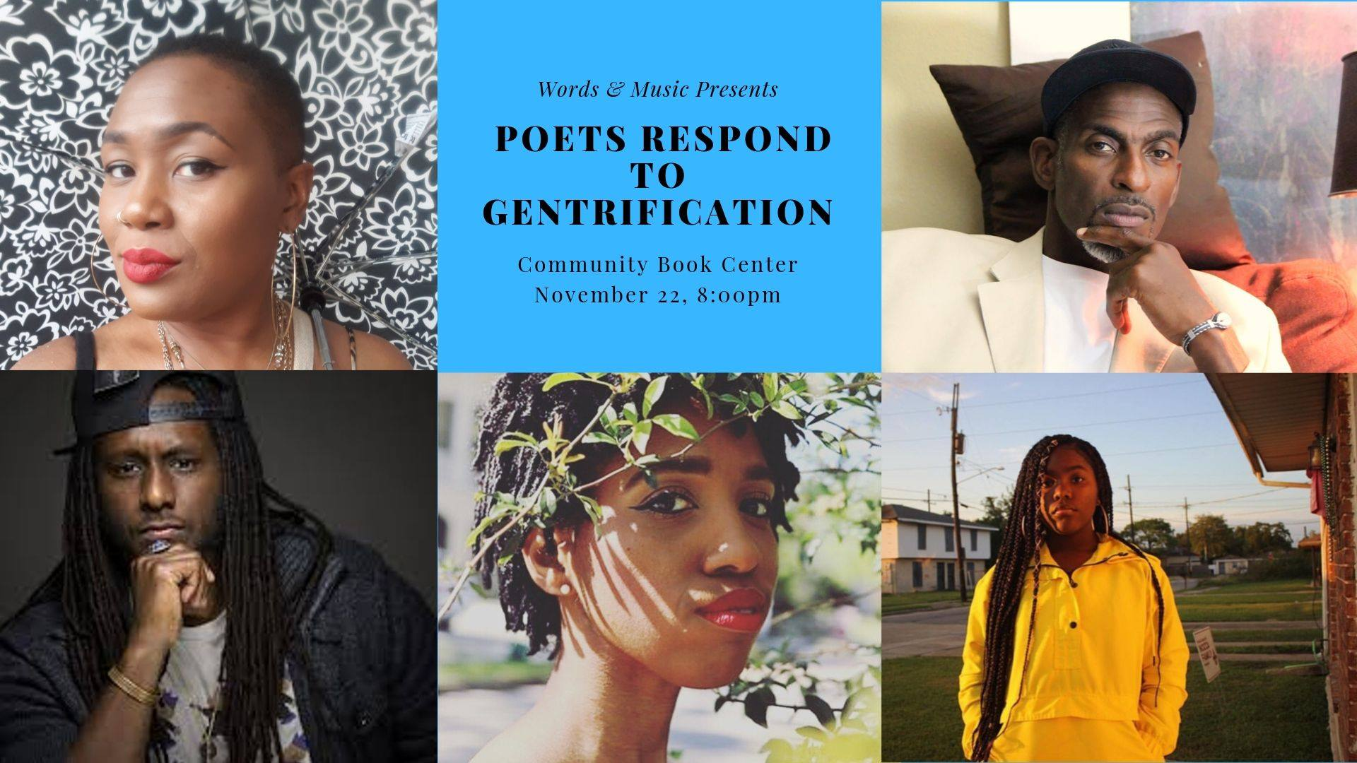Poets Respond to Gentrification flyer