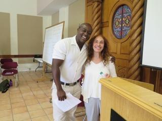 Sylvester Owino and Alicia Partnoy