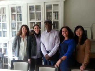 Xochitl-Julisa Bermejo with fellow writers.