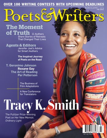 Magazine Cover - Title in yellow lettering over photograph of a smiling woman against a purple background.