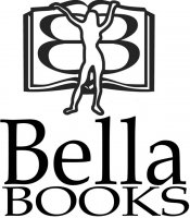 Bella Books logo - female silhouette in front of open book.
