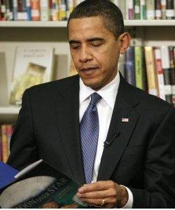 Barack Obama reading
