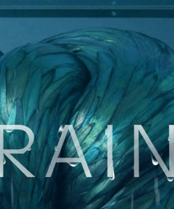 Close-up of the cover of Robbie Arnott's The Rain Heron