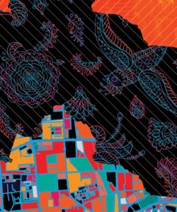 Close-up of the cover of Te-Ping Chen's Land of Big Numbers