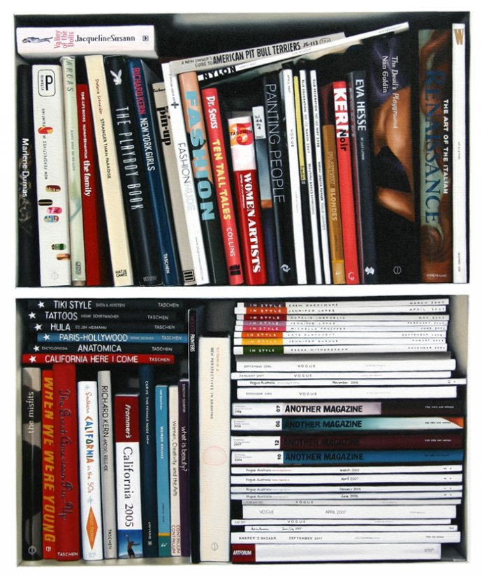 I Am Currently Making A Series Of Paintings Based On Photographs Bookshelves Writes Australian Artist Victoria Reichelt Some Are Portraits