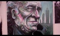 Painting Bukowski (Time Lapse- Flip Video)