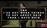 AAWWTV: Jess Rizkallah Reads tbh i've got more things to say about hair than than i have hair