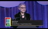 Author of The Friend Sigrid Nunez accepts the 2018 National Book Award for Fiction